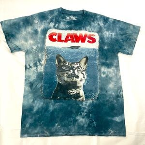 """Cat """"claws"""" Jaws parody T-shirt"""